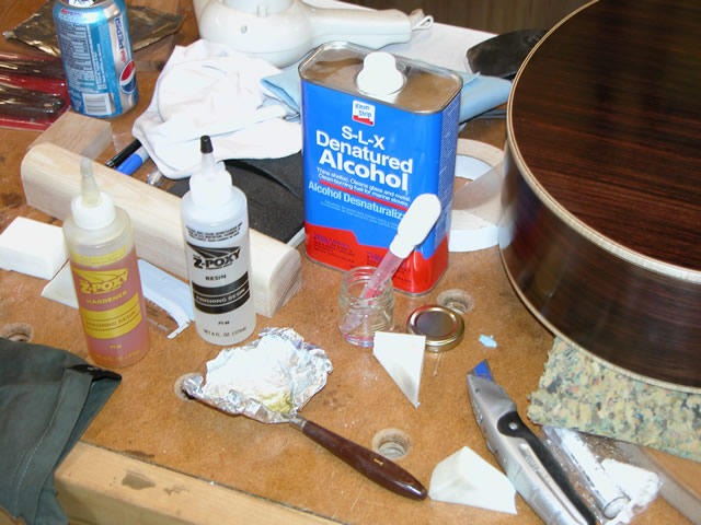how to repair guitar finish sanded through lacquer